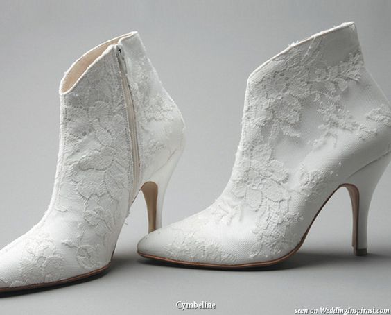 broderie bottines mariage hiver