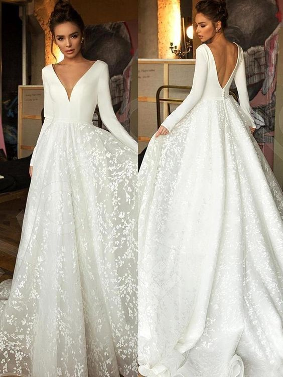 robe mariage hiver manches longues